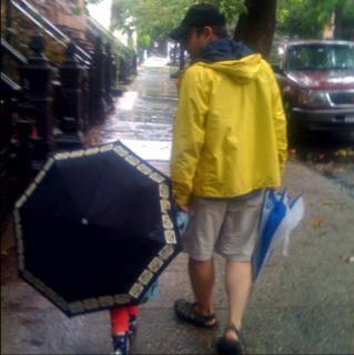 Willa loves umbrellas