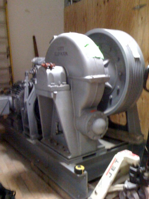 Elevator motor at 20 Jay St.